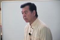 熱く語る古謝景春市長